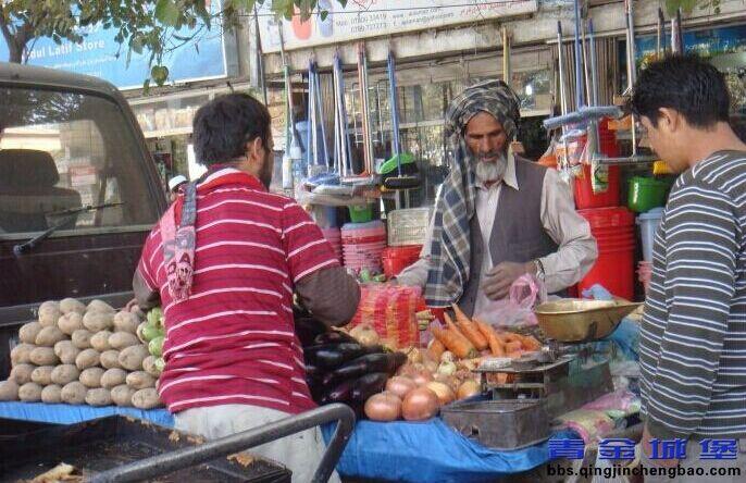阿富汗街市一角